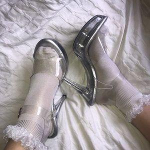 Fabulous Clear Stripper Heels 👠